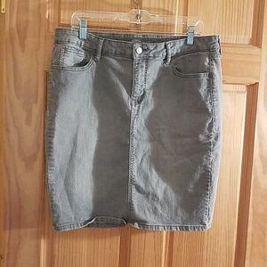 Old Navy gray sz 14 denim skirt